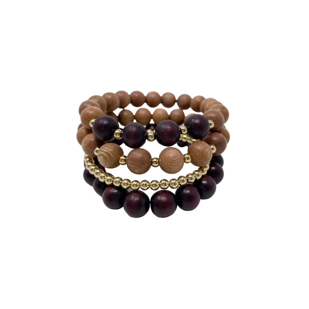 the sienna | winter plum | rosewood stack