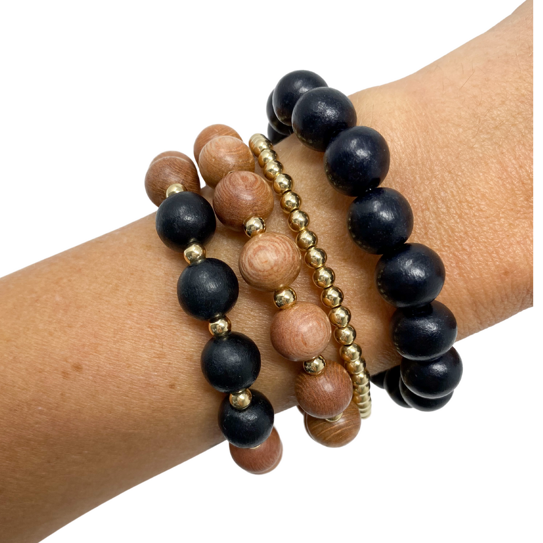 the sienna | black | rosewood stack