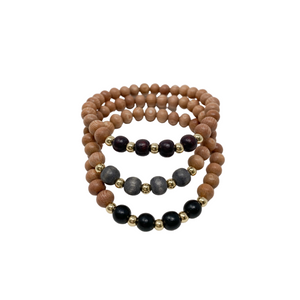 delicate | the reese | winter plum, charcoal grey, black | rosewood stack