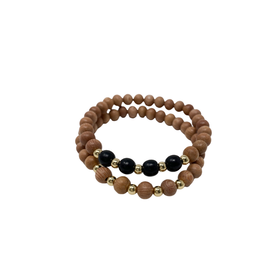 delicate | the ava | black | rosewood stack