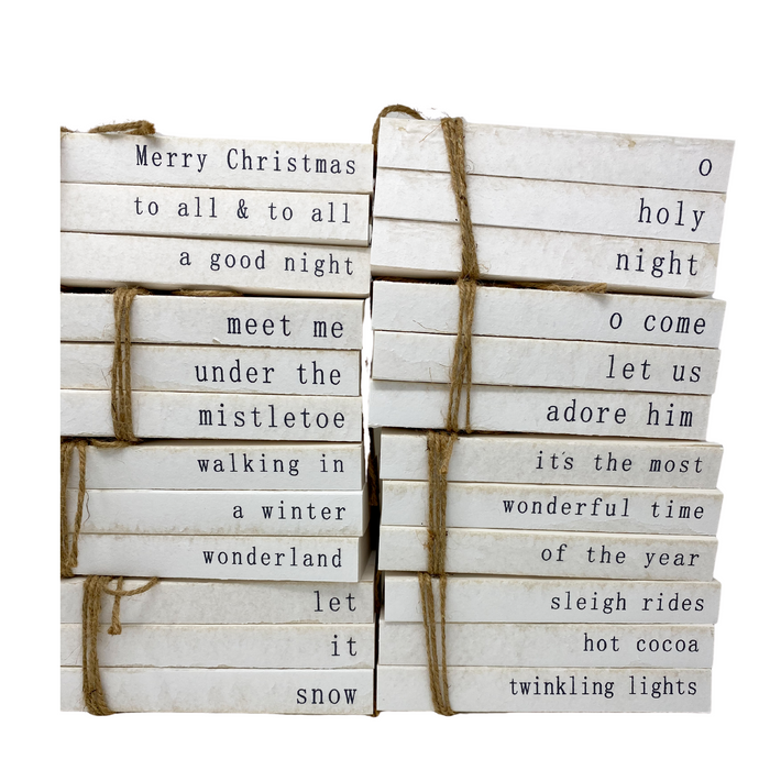 vintage ripped cover | stamped books | CHRISTMAS COLLECTION