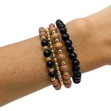 Load image into Gallery viewer, delicate | the sienna | black | rosewood stack