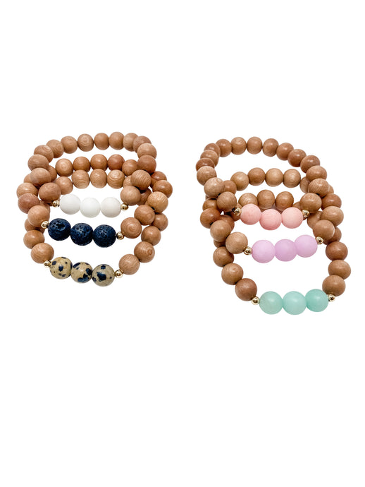 custom | summer collection | three bead