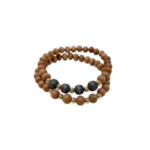 delicate | the ava | charcoal grey | rosewood stack