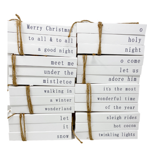 modern white cover | stamped books | CHRISTMAS COLLECTION