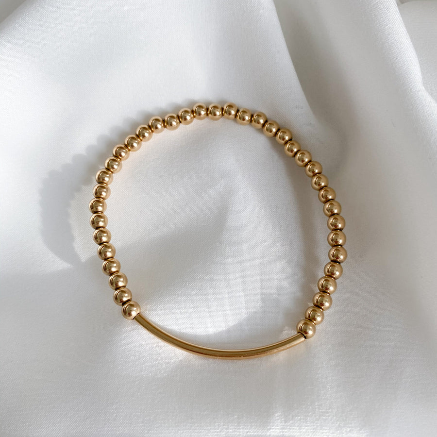 gold bar | single bracelet | 4 mm precious metal