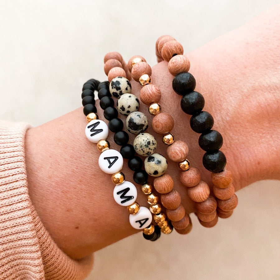 delicate | the bradley | black & leopard | rosewood stack