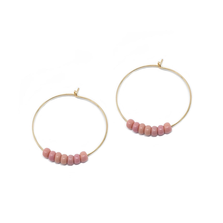 hoop earrings 30 mm | 14k gold-filled | pink