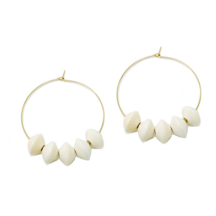hoop earrings 35 mm | 14k gold-filled | bicone
