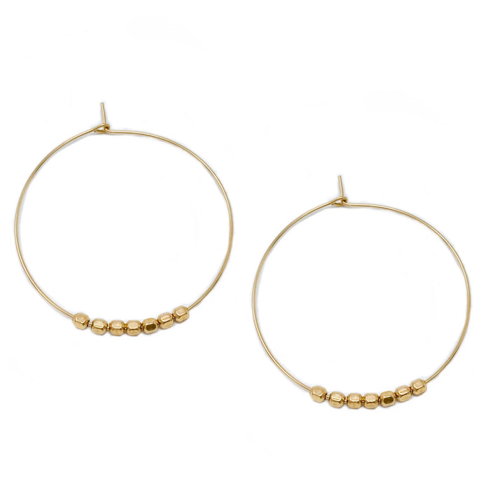 hoop earrings 35 or 30 mm | 14k gold-filled | gold