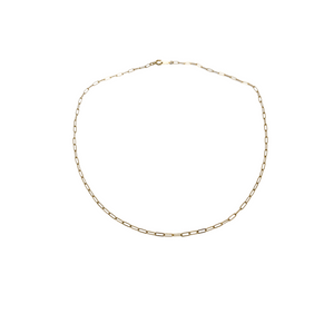 the sage | paperclip chain necklace | 14k gold filled | 16""