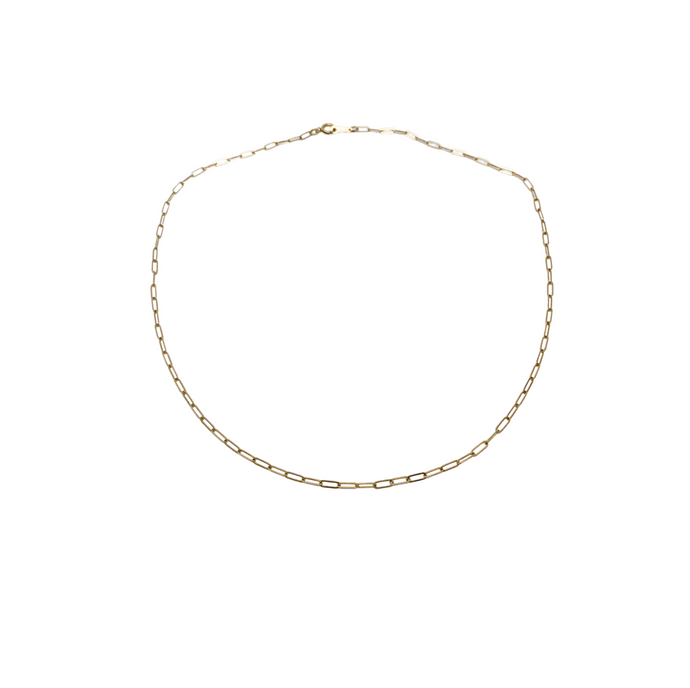 the sage | paperclip chain necklace | 14k gold filled | 16
