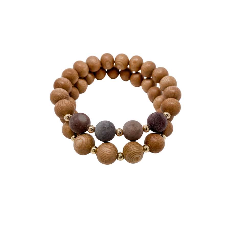 the ava | plum | rosewood stack