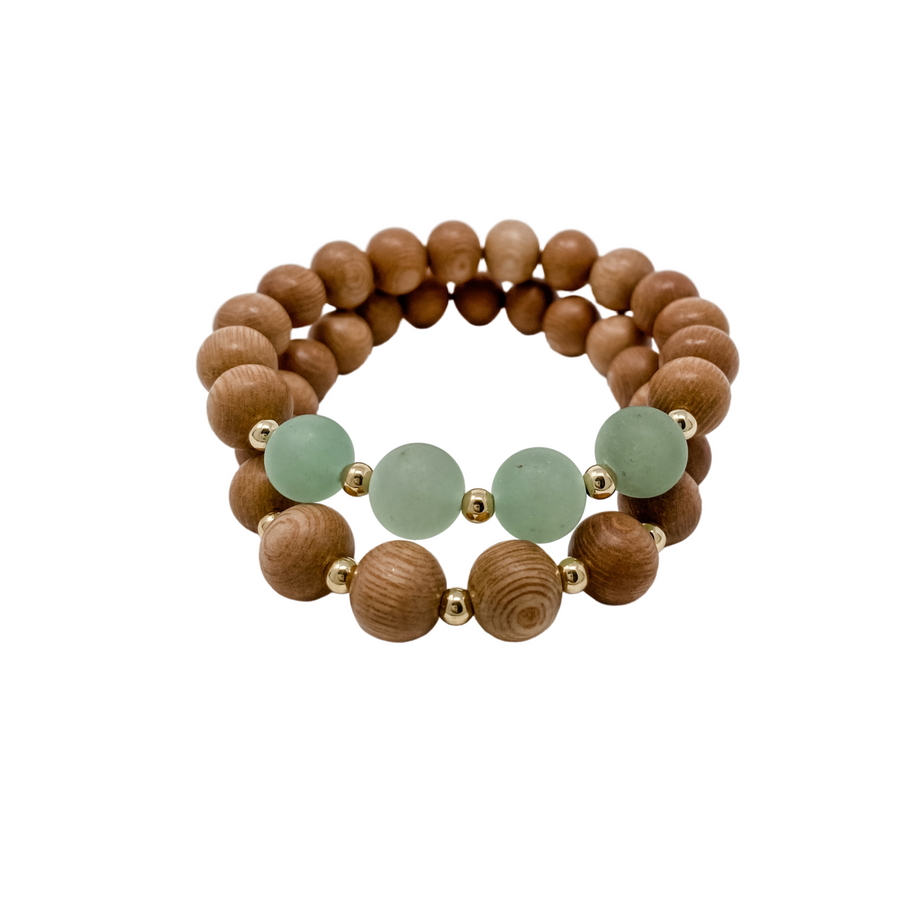 the ava | sage green | rosewood stack