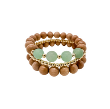 Load image into Gallery viewer, the paisley | sage green | rosewood stack