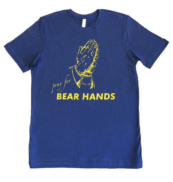 Pray for Bear Hands Blue T Shirt