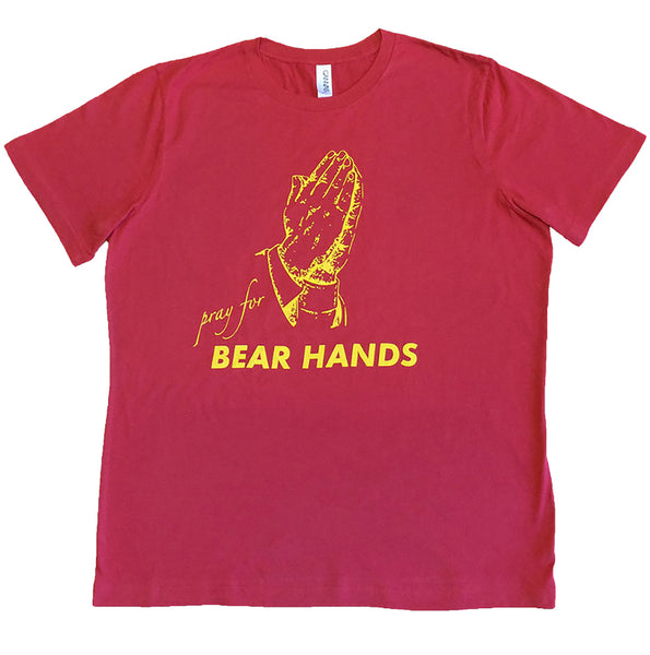 Pray for Bear Hands Red T Shirt