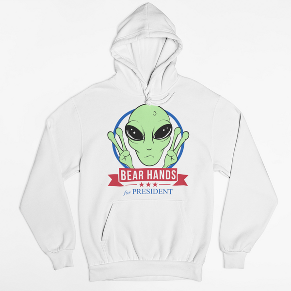 BH 4 Prez White Pullover Hoodie + Fake Tunes Download