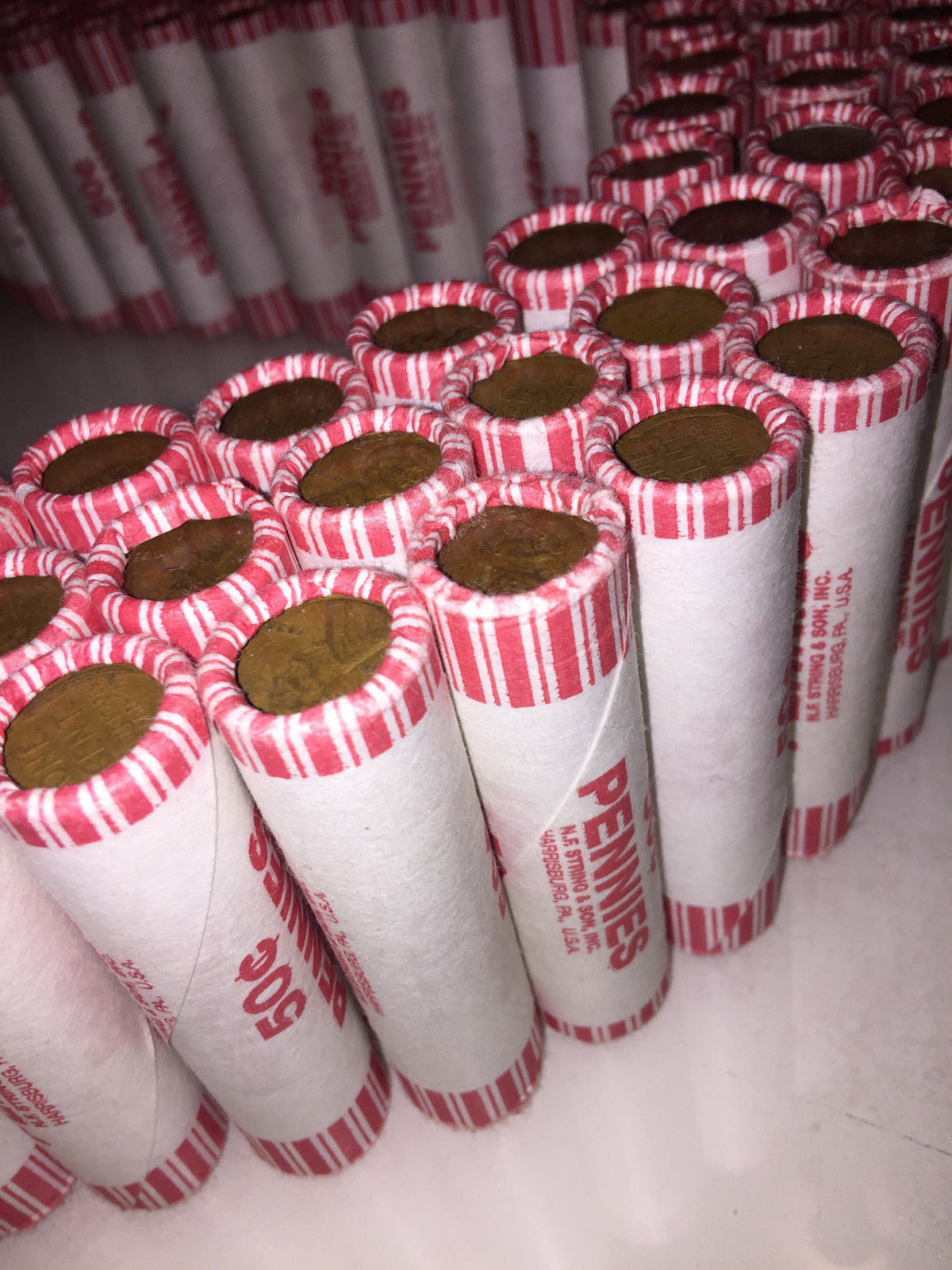 Old Bank Rolls of Wheat Pennies 1909-1958 P/D/S