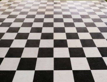 INDOOR BLACK & WHITE DANCE FLOOR