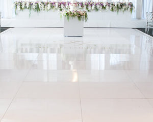 12X12 All White Inside Dance Floor