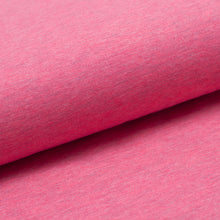 FUCHSIA CHINÉ<br>coton/poly/spandex<br>jersey