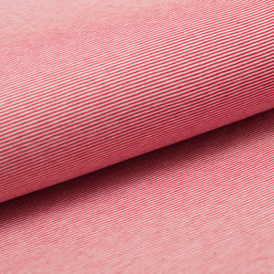 RED AND WHITE 1MM  COTTON / SPANDEX  DYED