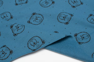 BLUE BEAR cotton / spandex brushed organic french terry