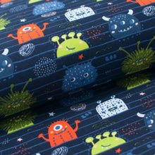 LITTLE MONSTERS cotton / spandex brushed organic french terry