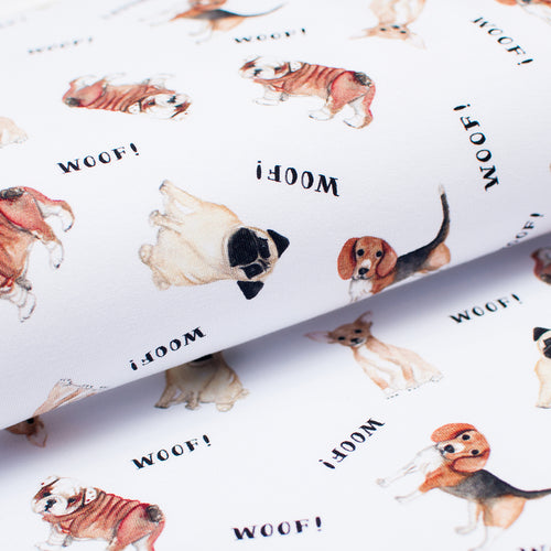 WOOF<br>coton/spandex<br>french terry