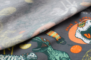 DINO SKATE  cotton / spandex  french terry organic brushed