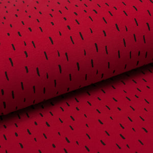RED AND BLACK STRANDS  cotton / spandex  organic jersey