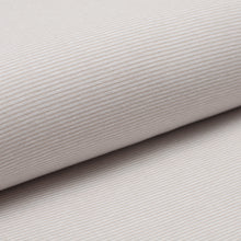 BEIGE AND WHITE cotton / spandex Ribbing