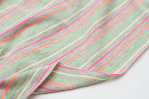 MULTI FLUO  cotton / poly / spandex  yarn dyed
