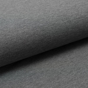 DARK HEATHER GRAY  cotton / spandex  french terry