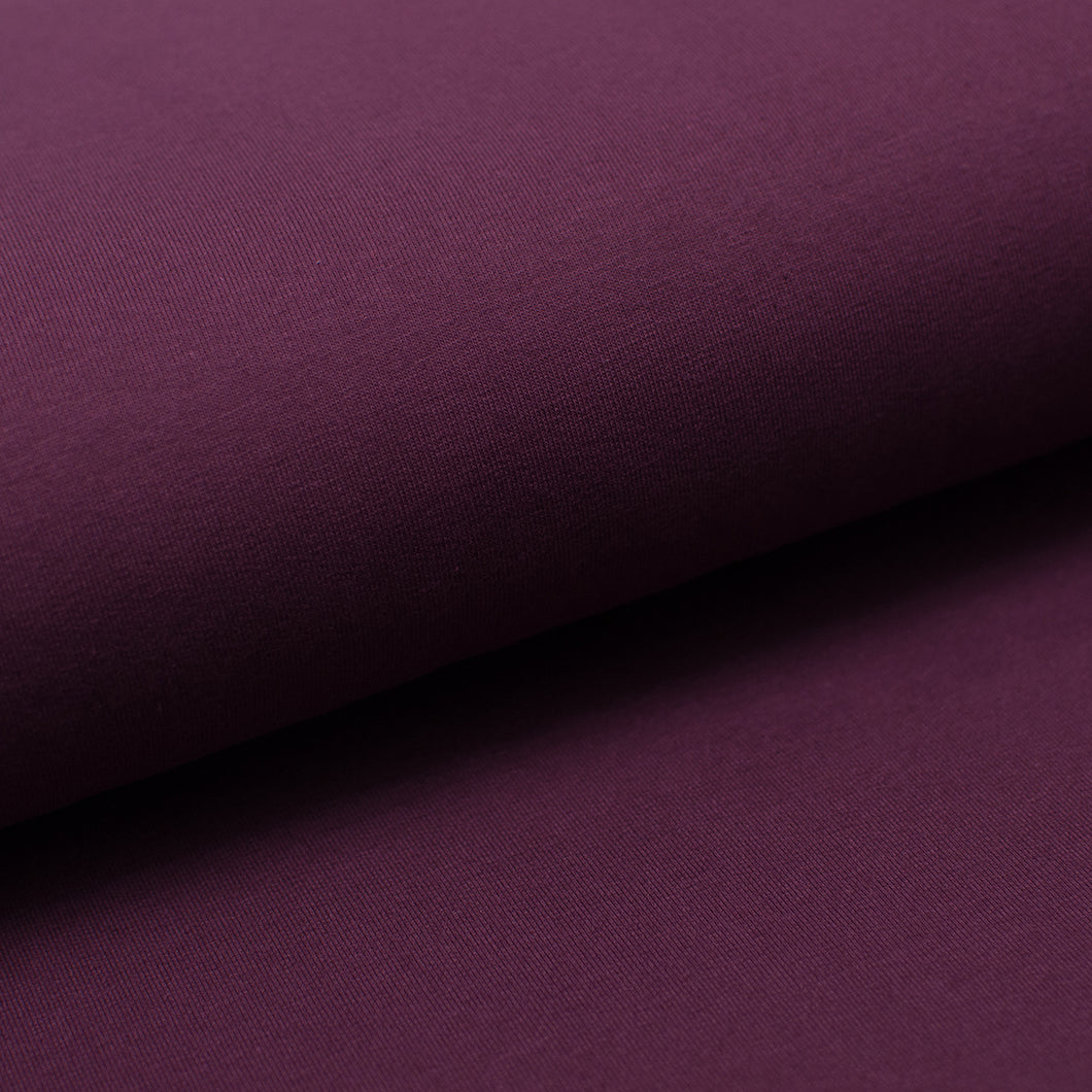 AUBERGINE<br>coton/spandex<br>french terry