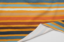 STRIPED SUNRISE cotton / spandex french terry