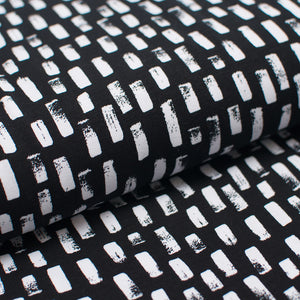 BLACK AND WHITE TRAITS  cotton / spandex  Jersey