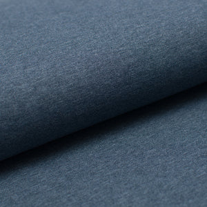 BLUE HEATHER  cotton / poly / spandex  Jersey