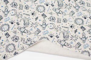 ECRU SPACE cotton / polyester brushed french terry