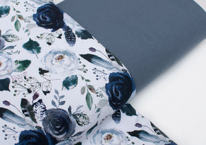 COLD FLOWER cotton / spandex french terry