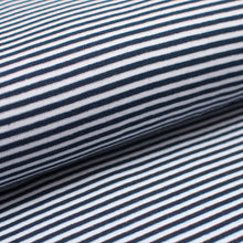 NAVY AND WHITE 3MM  cotton / spandex  Ribbing