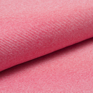 RED AND WHITE  cotton / spandex  Ribbing