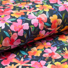 COLORFUL FLORAL  cotton / spandex  french terry