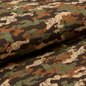 CAMO BROWN cotton / spandex french terry