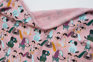 PINK DOG  cotton / spandex  brushed organic french terry