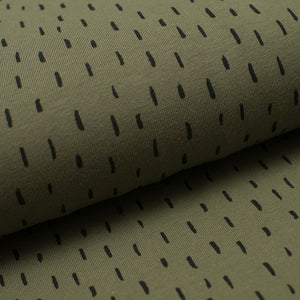 GREEN AND BLACK STRANDS cotton / spandex organic jersey