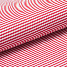 RED AND WHITE 3MM  COTTON / SPANDEX  DYED