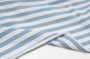 BLUE AND WHITE 10MM COTTON / SPANDEX STRAND DYED