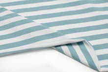 MINT AND WHITE 10MM  COTTON / SPANDEX  DYED